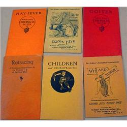 LOT OF 6 EARLY MEDICAL BOOKLETS - INCL. QUACK MEDI