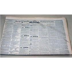 9-26-1844 NEWSPAPER - THE NEW YORK AMERICAN W/ MAN