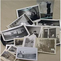 LARGE LOT OF VINTAGE PHOTOGRAPHS - Incl. man playi