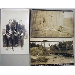 LOT OF 3 VINTAGE RPPC REAL PHOTO POSTCARDS INCL. R