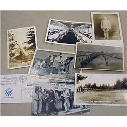 LOT OF 8 VINTAGE POSTCARDS - MILITARY - MOST RPPC