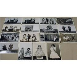LOT OF 16 RPPC REAL PHOTO POSTCARDS OF A DOLL MUSE