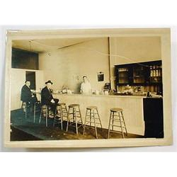 ANTIQUE LARGE PHOTO OF CAFE INTERIOR - Approx. 5""