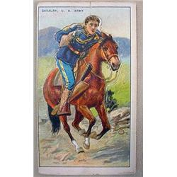 VINTAGE US ARMY CALVERY OFFICER TOBACCO CARD - Rec