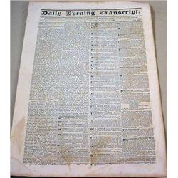 3-13-1834 NEWSPAPER - Boston Daily Evening Transcr