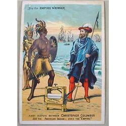 VICTORIAN TRADE CARD - CHRISTOPHER COLUMBUS W/ EMP