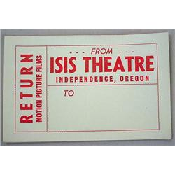 LOT OF VINTAGE ISIS THEATRE, INDEPENDENCE, OREGON