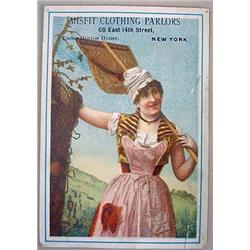 VICTORIAN TRADE CARD - MISFIT CLOTHING PARLORS