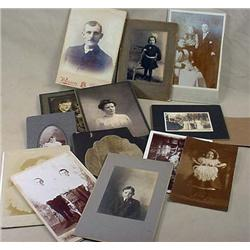 LOT OF APPROX. 10 ANTIQUE CABINET CARD AND CABNET