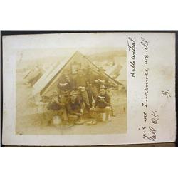 EARLY RPPC REAL PHOTO POSTCARD - POSS. ROUGH RIDER