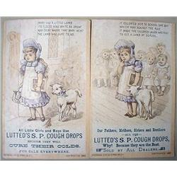 LOT OF 2 VICTORIAN TRADE CARDS - MARY AND LIL' LAM