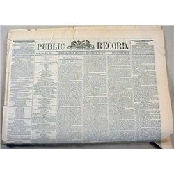 12-16-1872 NEWPAPER W/ VICTORIA WOODHULL LIBERATED
