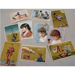 LOT OF 10 VICTORIAN TRADE CARDS - Incl. Soapine, W