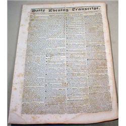 3-8-1834 NEWSPAPER - Boston Daily Evening Transcri
