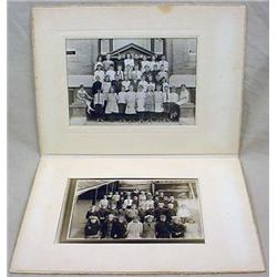 LOT OF 2 VINTAGE PHOTOS OF SCHOOL CHILDREN