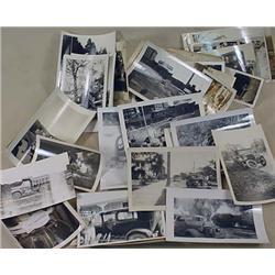 LARGE LOT OF VINTAGE PHOTOGRAPHS - Incl. Car Racin