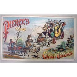 VICTORIAN BLACK AMERICANA TRADE CARD - PIERCES COA