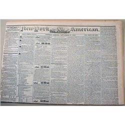 9-17-1844 NEWSPAPER - THE NEW YORK AMERICAN W/ MAN