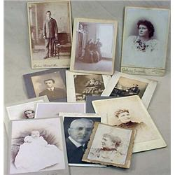 LOT OF 12 ANTIQUE CABINET CARD AND CABINET CARD ST