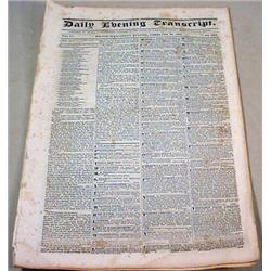 2-26-1834 NEWSPAPER - Boston Daily Evening Transcr