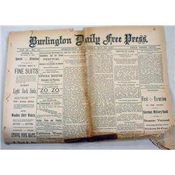 5-30-1887 NEWSPAPER W/ BASEBALL, COLORED NATIONAL