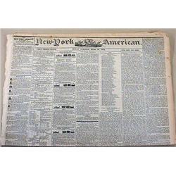 6-28-1844 NEWSPAPER - THE NEW YORK AMERICAN W/ MAN