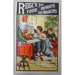 VICTORIAN TRADE CARD - RIDGE'S FOOD FOR INFANTS AN