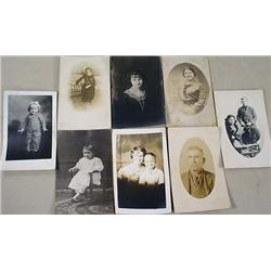 LOT OF 8 VINTAGE RPPC REAL PHOTO POSTCARDS - INCL.