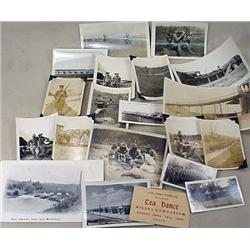 LOT OF 18 VINTAGE MILITARY PHOTOGRAPHS - Incl. Sho