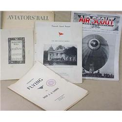 LOT OF VINTAGE AVIATION RELATED EPHEMERA - Incl. A