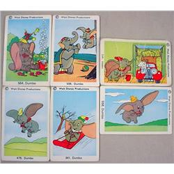LOT OF 6 VINTAGE DISNEY DUMBO TRADING CARDS