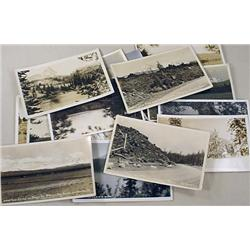 LOT OF 16 VINTAGE RPPC REAL PHOTO POSTCARDS OF CEN