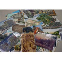 LARGE LOT OF APPROX. 65+ VINTAGE POSTCARDS - Incl.