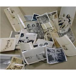 LARGE LOT OF VINTAGE PHOTOGRAPHS - ALL BEACH RELAT