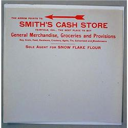 LOT OF STATIONARY FOR SMITH'S CASH STORE - FAIRFIE