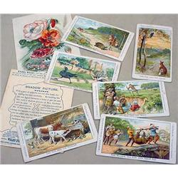 LOT OF 8 VICTORIAN TRADE CARDS - Incl. 2 that have
