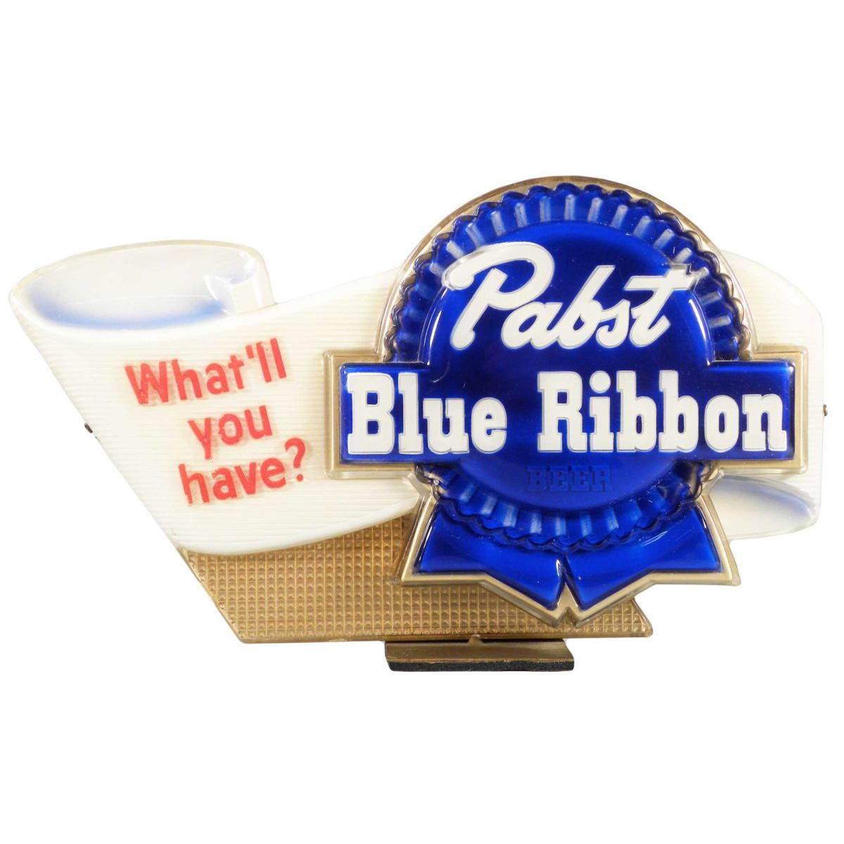 Pabst Blue Ribbon Beer Plastic Counter Display