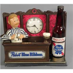 Pabst Blue Ribbon Beer Back Bar Display Clock
