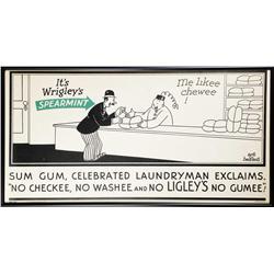 Wrigley's Spearmint Gum Trolley Car Sign