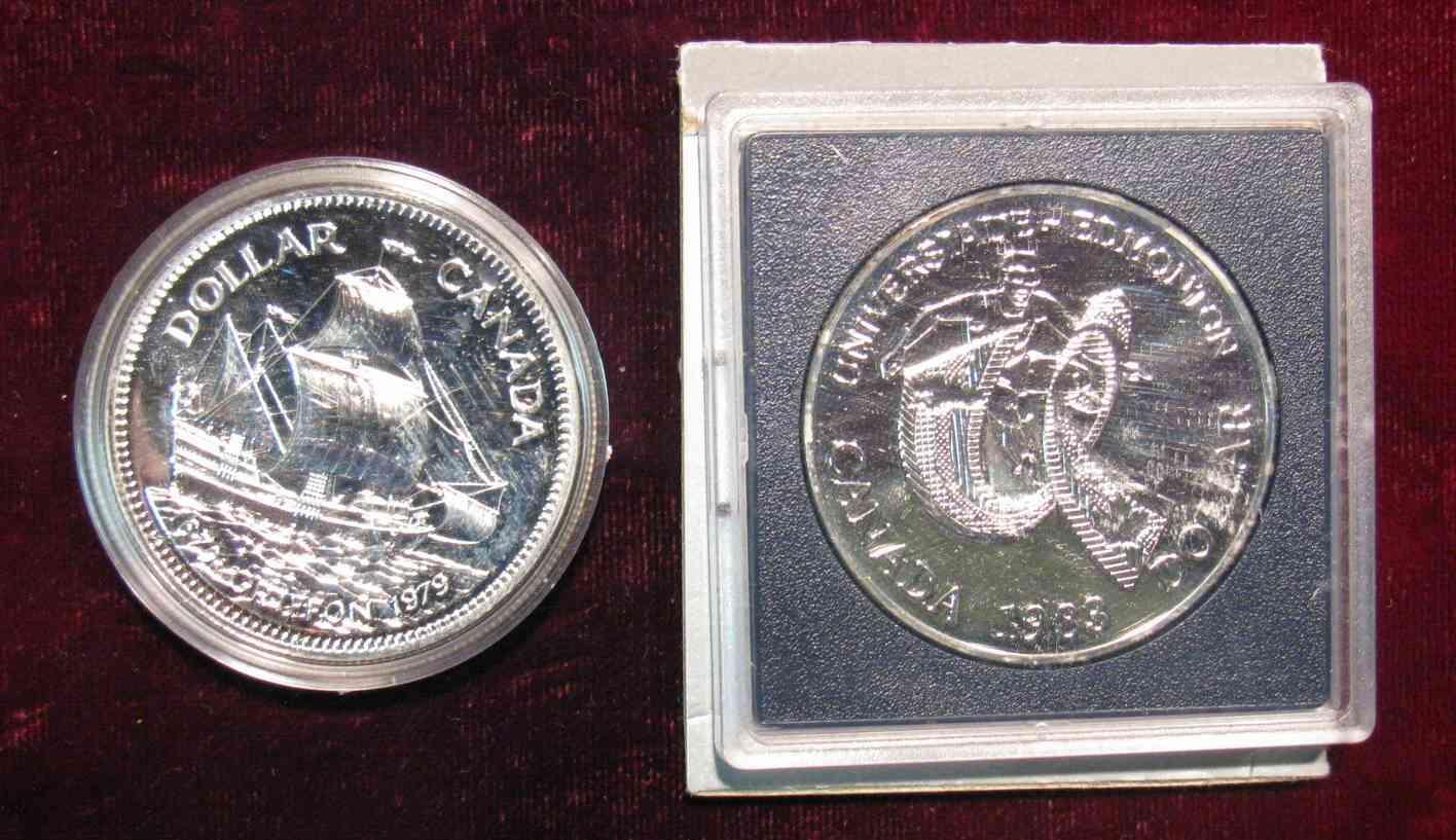 Canada 1983 Edmonton World Games Silver Dollar Proof in Case