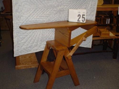 Incredible Amish Made Onit Chair Ironing Board Step Stool Uwap Interior Chair Design Uwaporg