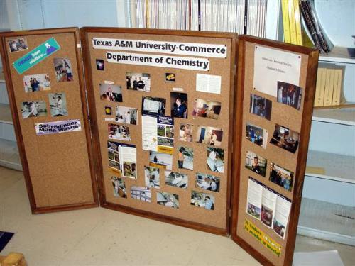 Wooden Tri Fold Bulletin Board