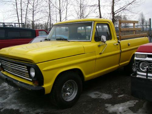 1969 Ford F250 Short Bed Pickup New Paint Custom Rims Custom Upholstery Sears Auto Trans With Hu