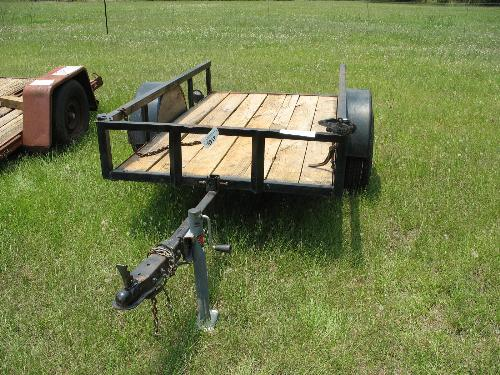 shopbuilt 4x8 s a tilt trailer bill of sale j m wood auction