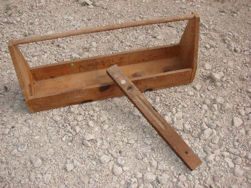 Old Wood Tool Box Old Stanley Wood Level
