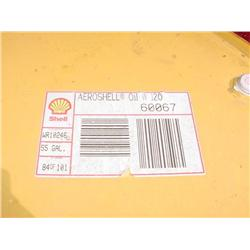 8 55 gal drums of Aeroshell oil W120 - 7 sealed, 1 opened