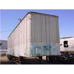 Aluminum van trailer - Rear doors close, and could be locked