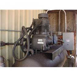 5HP air compressor - Includes 2 shown air tanks (gray and red)