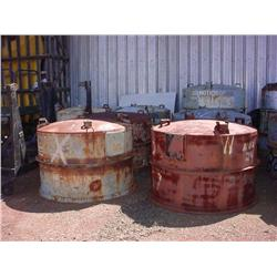 11 steel engine can lids - Green oxygen tank goes also