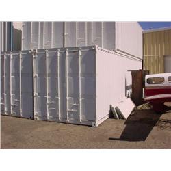 40' metal cargo container - wood floor, good condition
